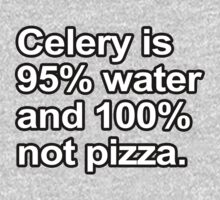 Funny Sayings - Celery is not pizza Baby Tee