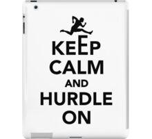 Keep calm and hurdle on iPad Case/Skin