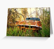 CHEVROLET in woods Greeting Card