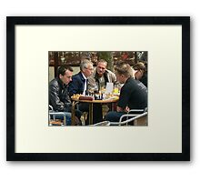 chess masters:)) Framed Print