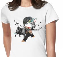 Fall In City Womens Fitted T-Shirt