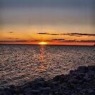 Rocky Sunset by Cheryl Dunning