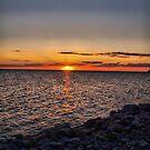 Rocky Sunset by Cheryl Dunning