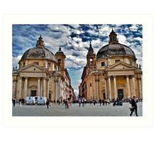 Twin Churches, Rome, Italy Art Print