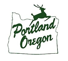 Portland Oregon Sign in Green by palbun