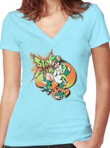 Mark your Turf! Women's Fitted V-Neck T-Shirt