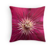 Red Clematis. Throw Pillow