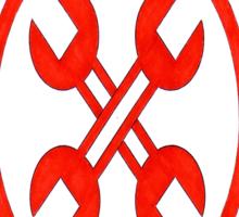 Wrench Cross Sticker