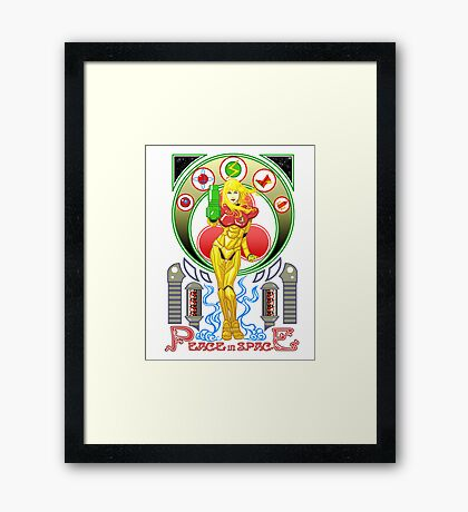 Let's Pray for Peace in Space Framed Print