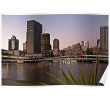 Brisbane - The River City Poster