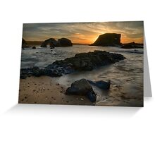 Sea Stack Sunset Greeting Card