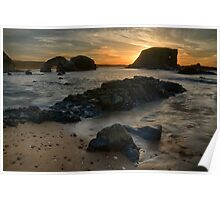 Sea Stack Sunset Poster