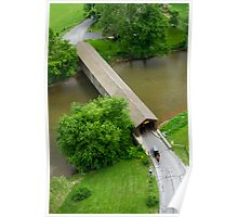 Hunsecker's Mill Covered Bridge - Horse and Buggies Poster