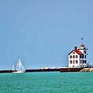Lorain Lighthouse by April May Maple