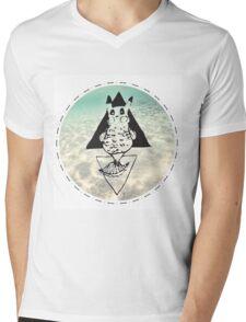 Pikafish Mens V-Neck T-Shirt