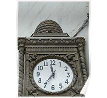 Classic Beehive Clock, Landmark 1897 Building, New York Poster