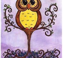 Owl in Tree by Jennifer Gibson