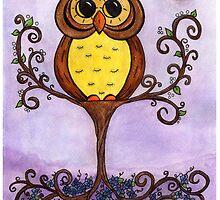 Owl in Tree by Jennifer Gibson