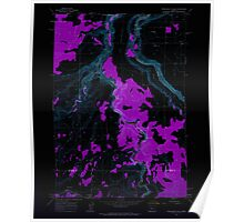 USGS Topo Map Oregon Steelhead Falls 281640 1962 24000 Inverted Poster