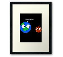 Space Worries Framed Print