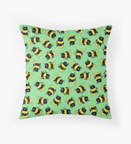Bees! Throw Pillow