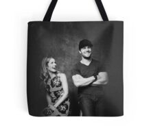 Stephen Amell and Emily Bett Rickards | Felicity Smoak and Oliver Queen | Stemily | Olicity | Arrow Tote Bag