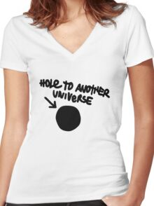 Hole To Another Universe Women's Fitted V-Neck T-Shirt