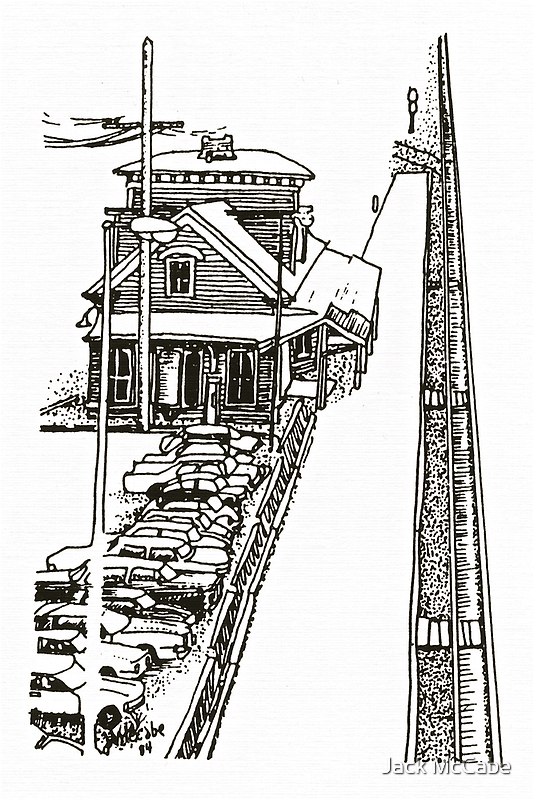 Kingston Railroad Station - Pen & Ink *featured by Jack McCabe