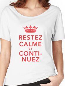 Restez Calme et Continuez Women's Relaxed Fit T-Shirt