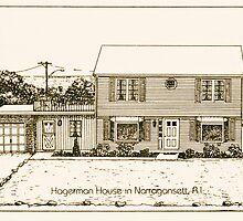 Hagerman House - Narragansett - Pen & Ink by Jack McCabe