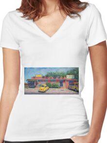 Ye Ole Hippie Emporium Women's Fitted V-Neck T-Shirt