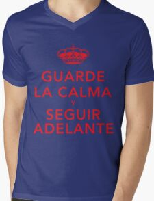 Guarde La Calma Y Seguir Adelante Mens V-Neck T-Shirt