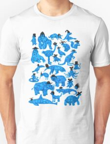 Blue Animals, Black Hats T-Shirt