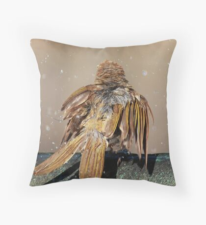 brown honeyeater Throw Pillow