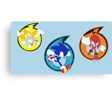 Team Sonic Canvas Print