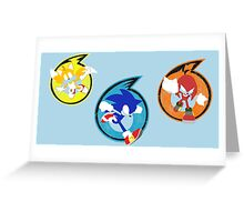 Team Sonic Greeting Card
