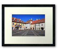 City square Framed Print