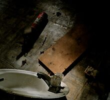 Sink and Fire extinguisher  by ashley hutchinson