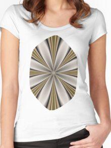Fractal Flower in CMR 01 Women's Fitted Scoop T-Shirt