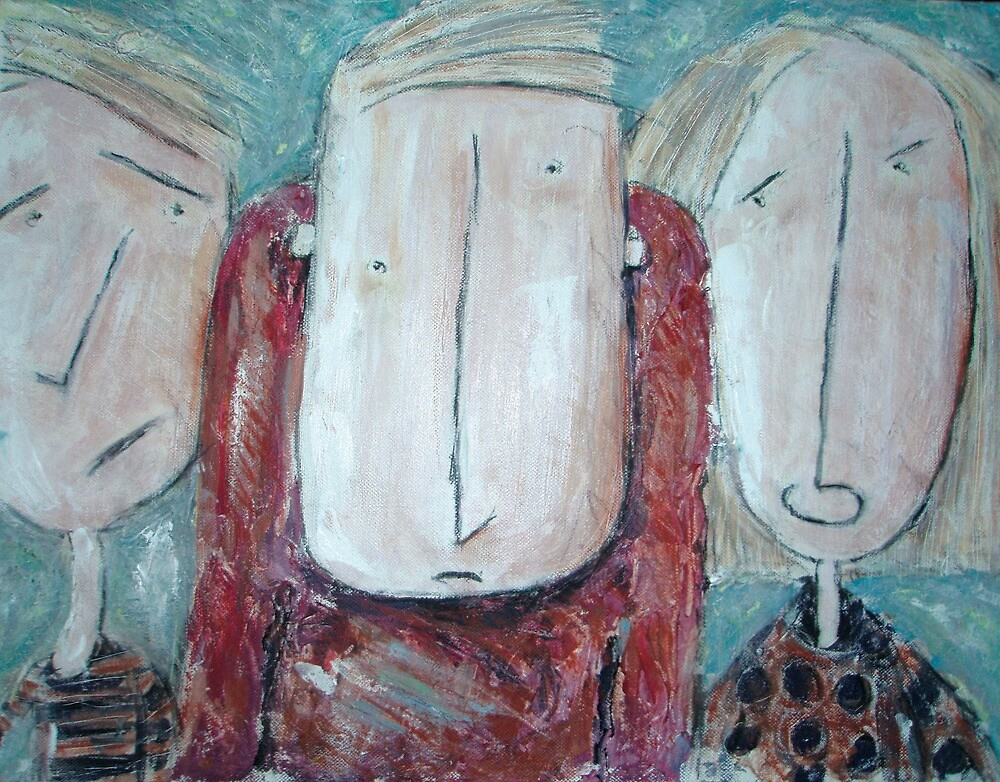 Family of three by Heidi Wolfenden