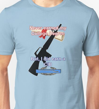 Never Earned a College Degree... Unisex T-Shirt