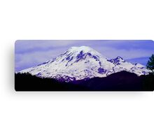 Mt. Rainier Panoramic in HDR Canvas Print