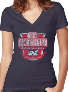 The Colonel's Kentucky Fried Chicken Women's Fitted V-Neck T-Shirt