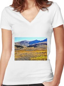 Guanella Pass Summit Lake and Colorado Fall Colors Women's Fitted V-Neck T-Shirt