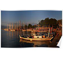 Fethiye Harbour Poster