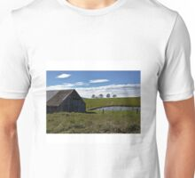 Old shed and dam. Unisex T-Shirt