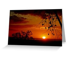 Sunset From High in the Hills Dwellingup Western Australia Greeting Card