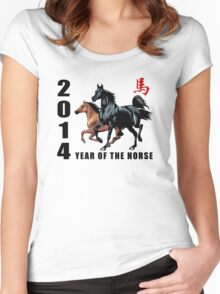 2014 Year of The Horse Women's Fitted Scoop T-Shirt