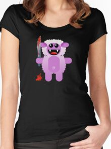 SHEEP 2 (Cute pet with a sharp knife!) Women's Fitted Scoop T-Shirt