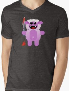 SHEEP 2 (Cute pet with a sharp knife!) Mens V-Neck T-Shirt